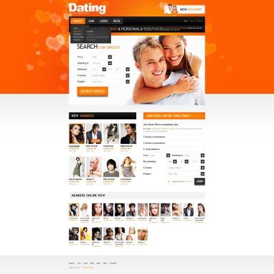 Dating-Website psd