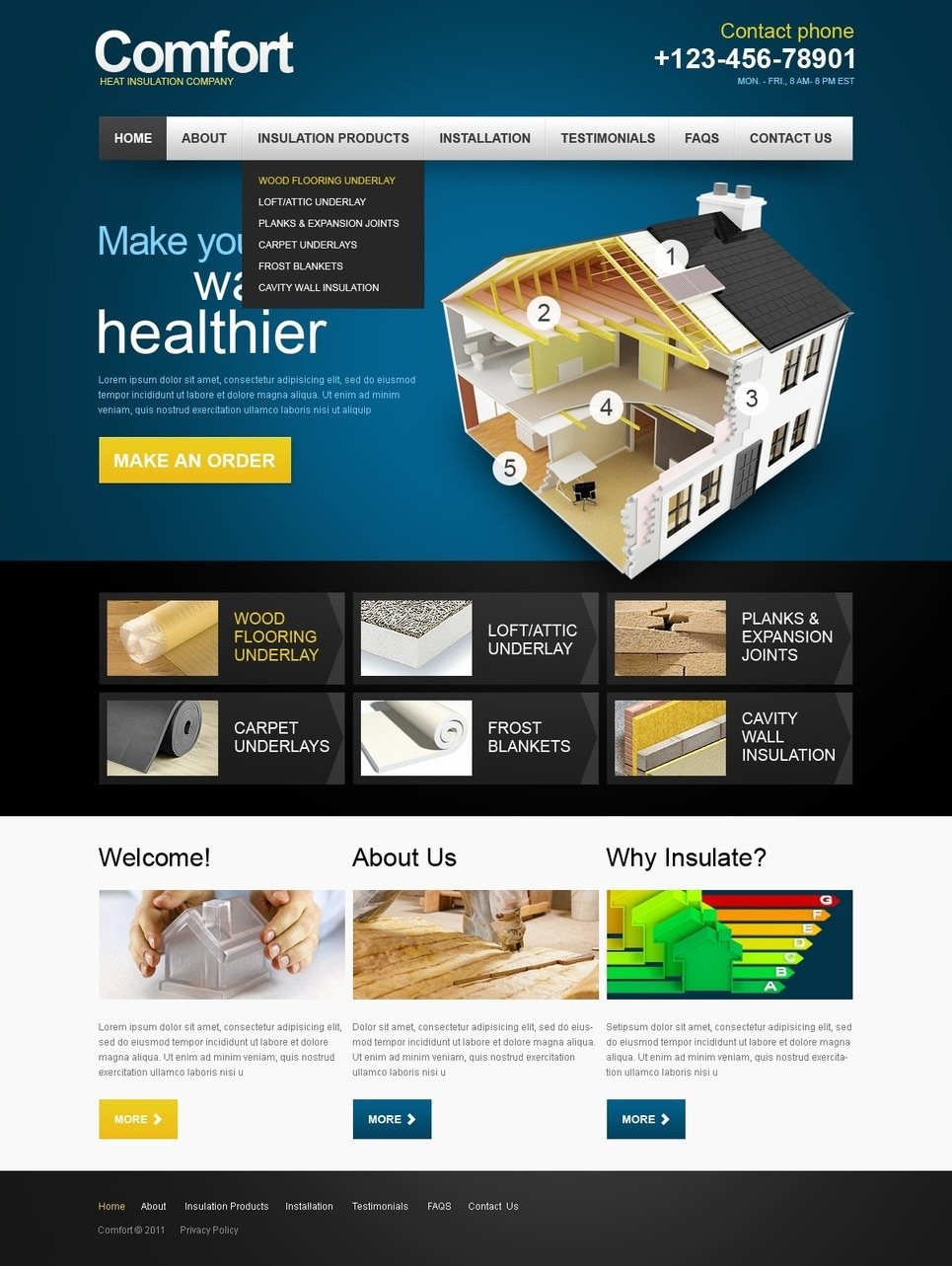 Home Repairs PSD Template New Screenshots BIG