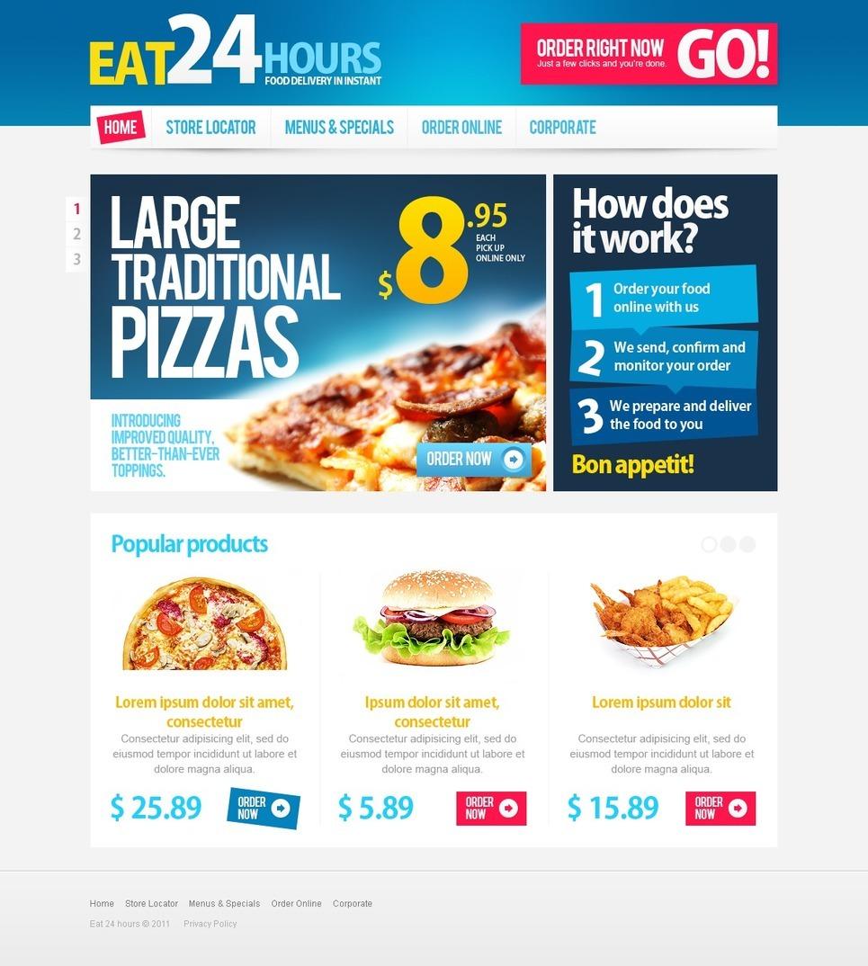 Pizza PSD Template New Screenshots BIG