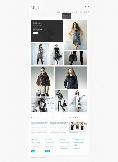 Fashion Store PSD шаблон