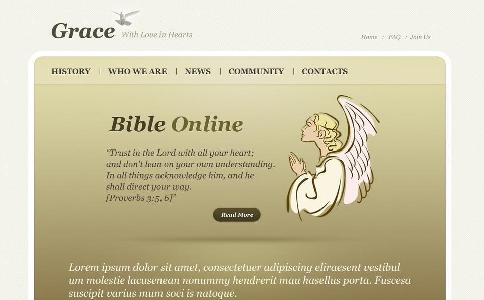 PSD šablona Křesťanství New Screenshots BIG