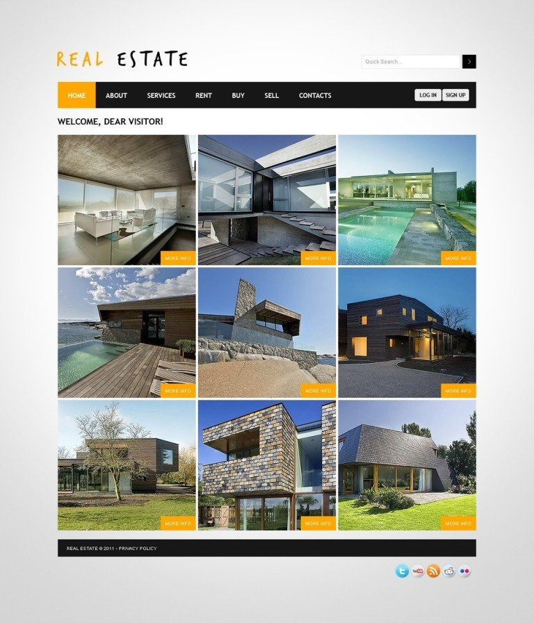 Real Estate PSD Template New Screenshots BIG