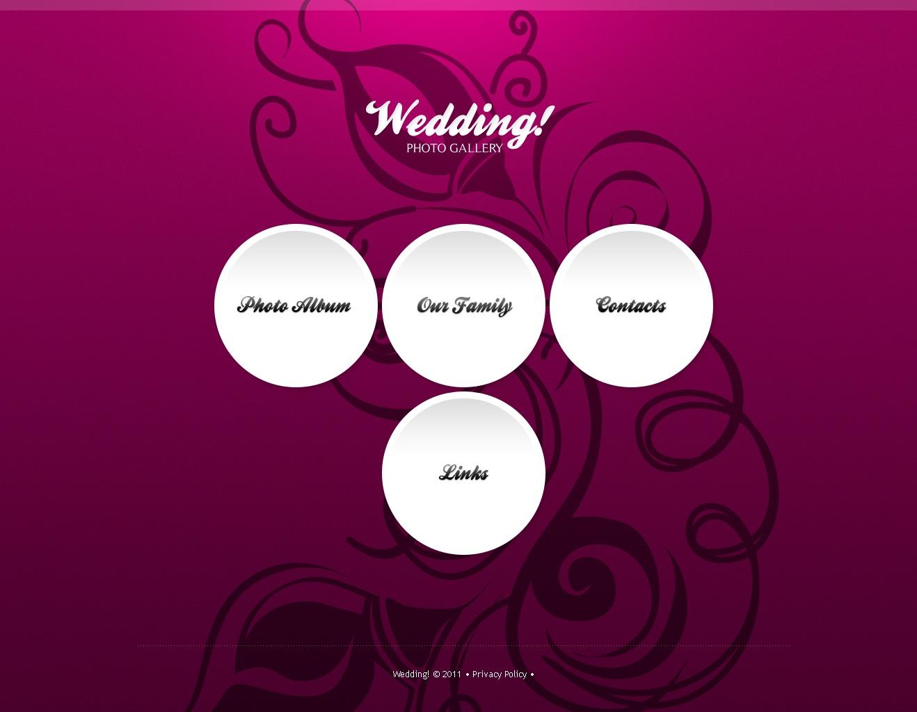Wedding Album PSD Template - screenshot