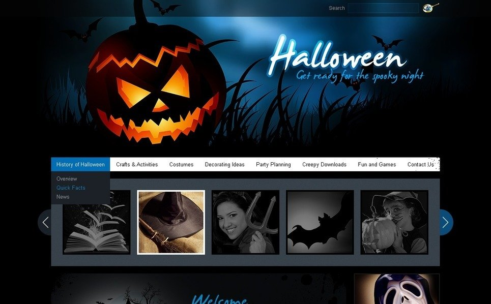 PSD šablona Halloween New Screenshots BIG