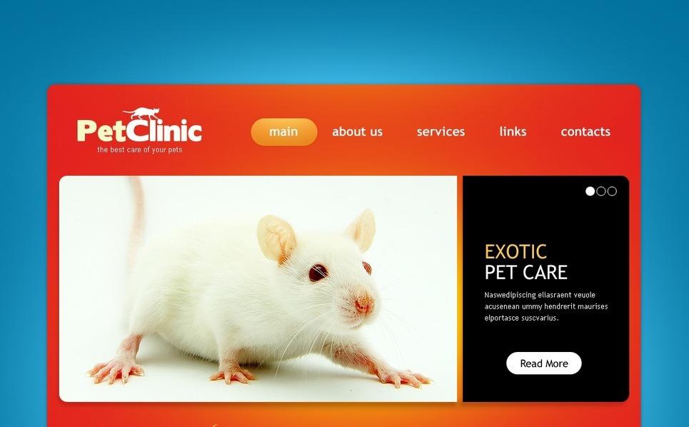 PSD šablona Veterinářství New Screenshots BIG