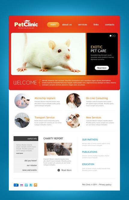 PSD макет сайта №57102