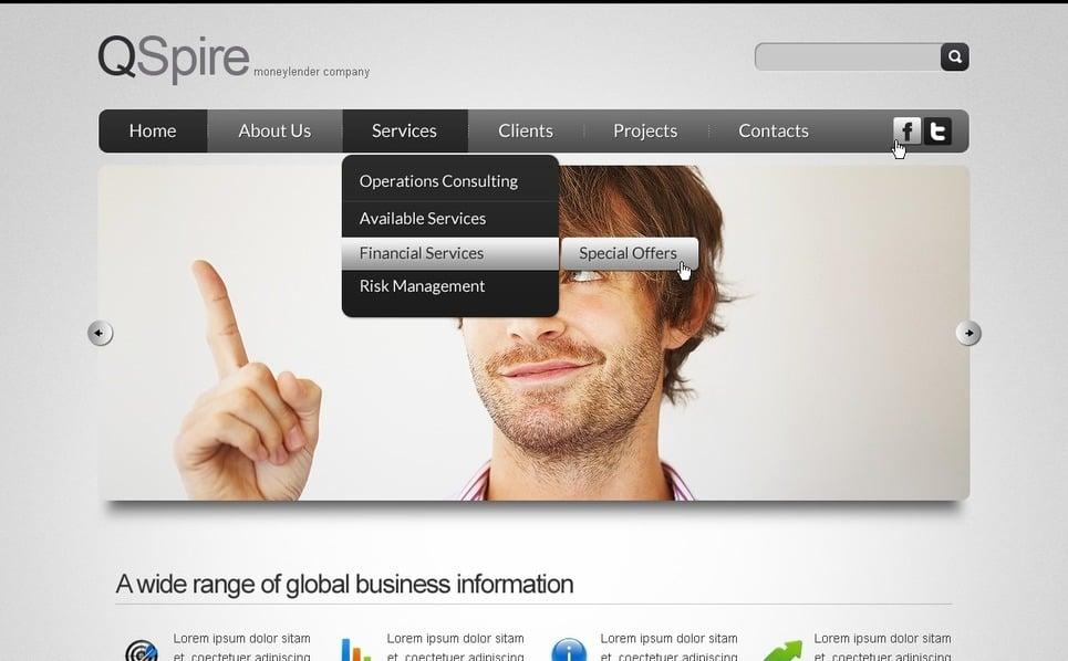 PSD шаблон №57103 на тему бизнес и услуги New Screenshots BIG