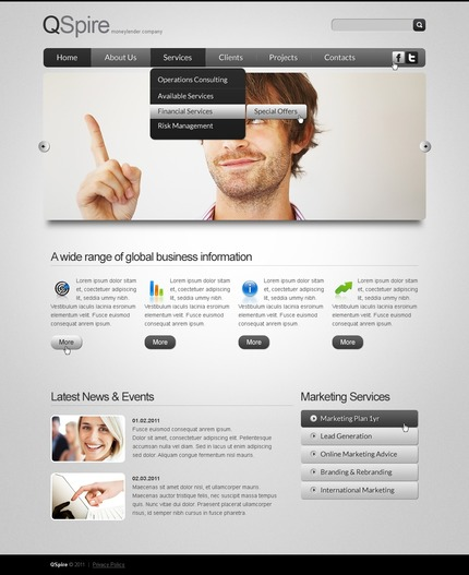 ADOBE Photoshop Template 57103 Home Page Screenshot