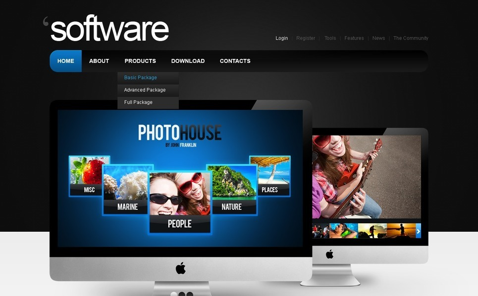 Modèle PSD  pour site de société de logiciels New Screenshots BIG