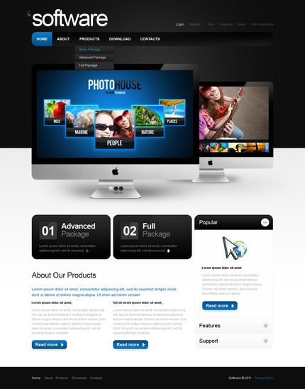 ADOBE Photoshop Template 57104 Home Page Screenshot