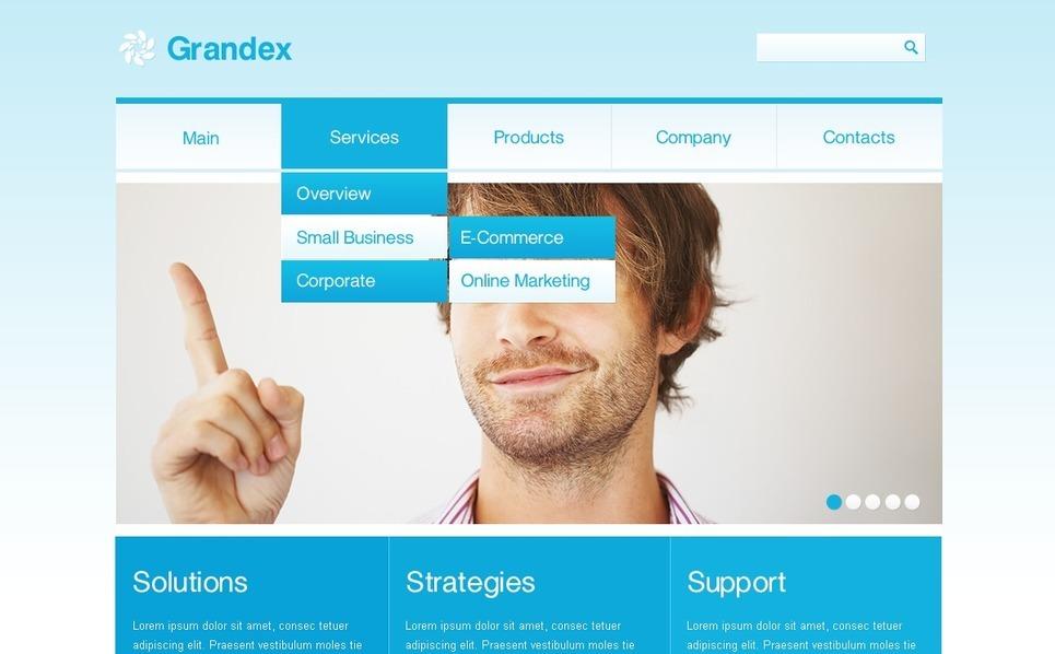 Plantilla PSD #57106 para Sitio de Negocio y Servicios New Screenshots BIG
