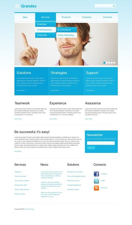 ADOBE Photoshop Template 57106 Home Page Screenshot