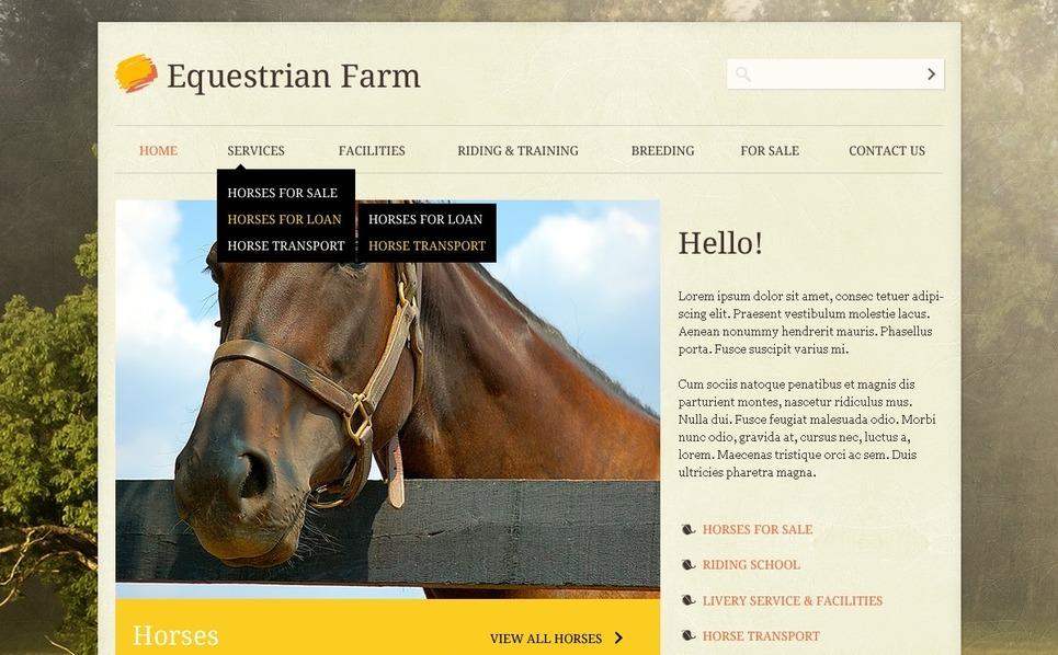 PSD Template over Paarden New Screenshots BIG