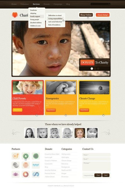 ADOBE Photoshop Template 57109 Home Page Screenshot