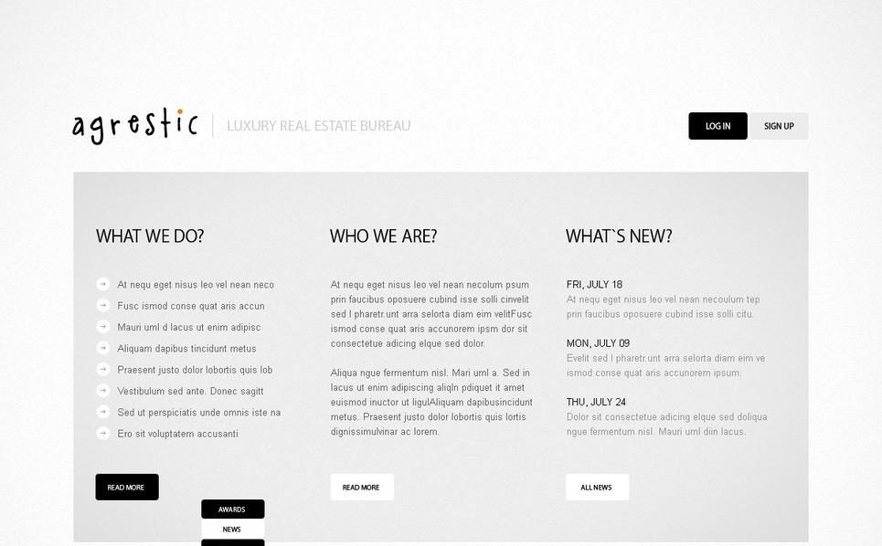 PSD шаблон №57110 на тему агентство недвижимости New Screenshots BIG
