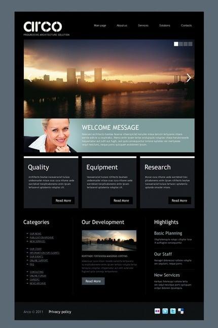 ADOBE Photoshop Template 57117 Home Page Screenshot