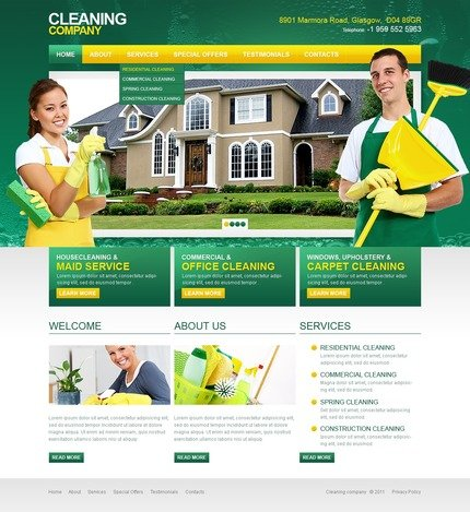 ADOBE Photoshop Template 57120 Home Page Screenshot