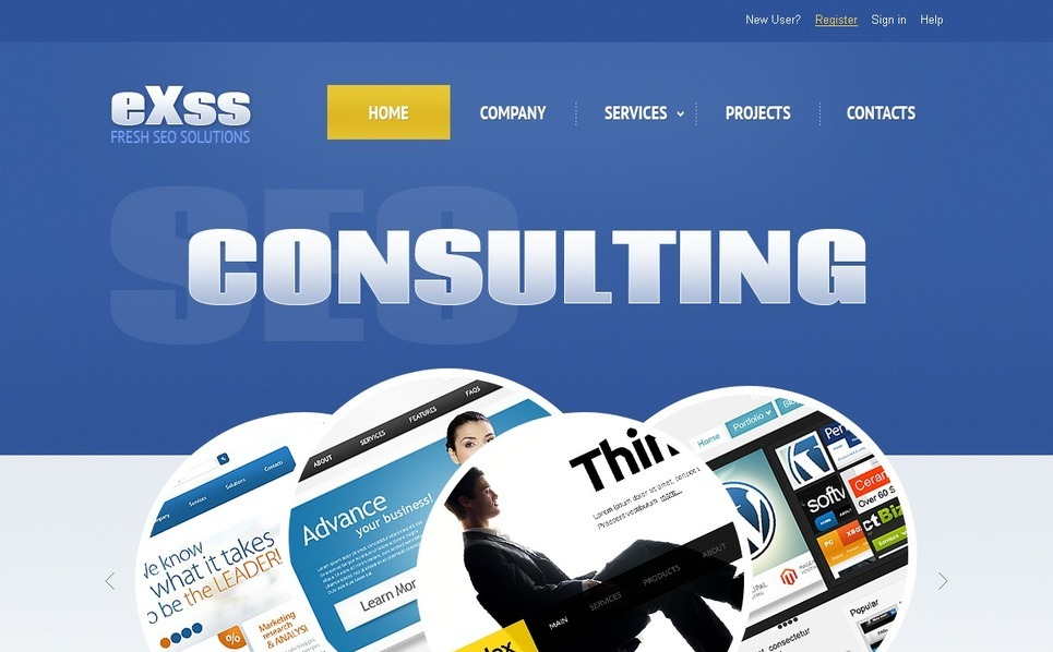 Template Photoshop  para Sites de Consultoria №57121 New Screenshots BIG