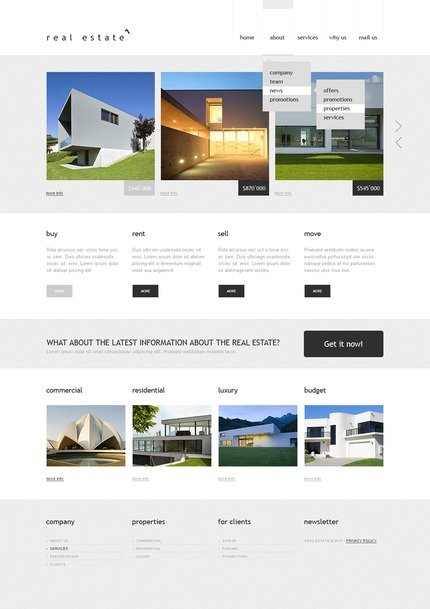 ADOBE Photoshop Template 57123 Home Page Screenshot