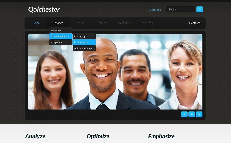 Plantilla PSD #57125 para Sitio de Negocio y Servicios New Screenshots BIG