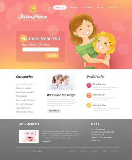 ADOBE Photoshop Template 57133 Home Page Screenshot