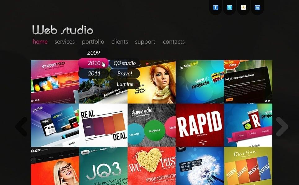 PSD шаблон №57137 на тему веб-дизайн New Screenshots BIG