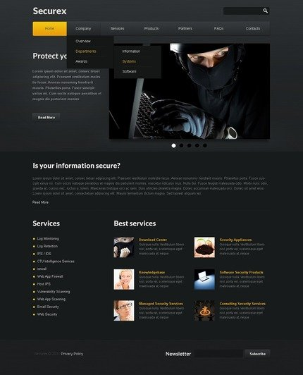ADOBE Photoshop Template 57139 Home Page Screenshot