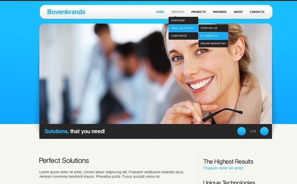 Template Photoshop  para Sites de Consultoria №57144 New Screenshots BIG