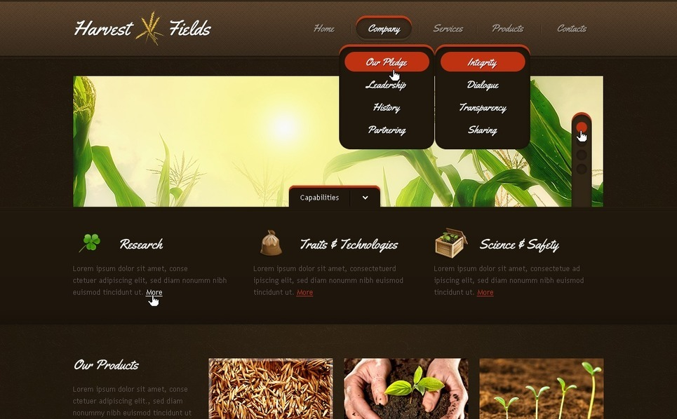 Template Photoshop  para Sites de Agricultura №57145 New Screenshots BIG