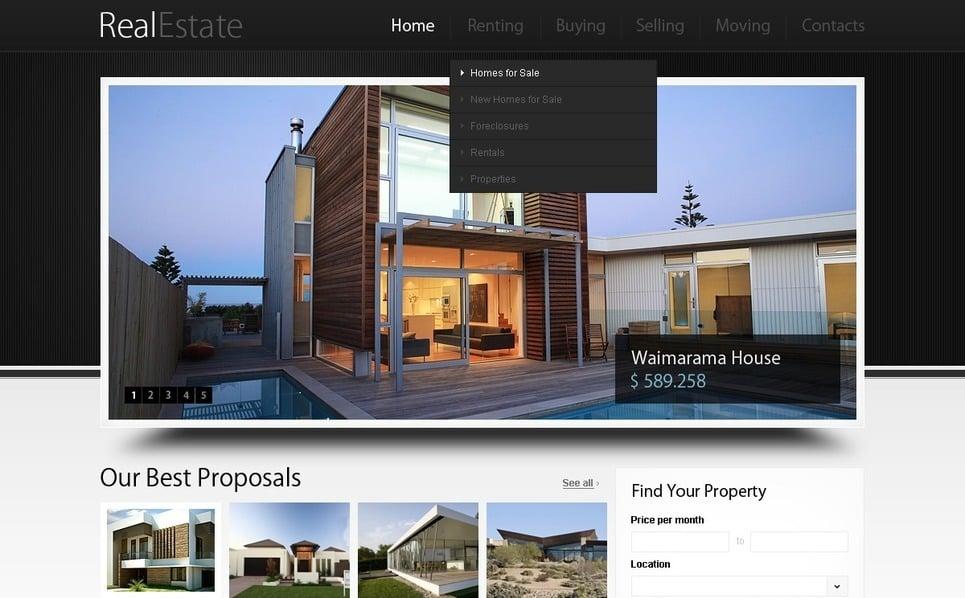 PSD Vorlage für Immobilienagentur  New Screenshots BIG