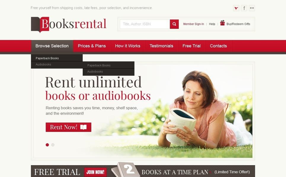 Szablon PSD #57149 na temat: książki New Screenshots BIG
