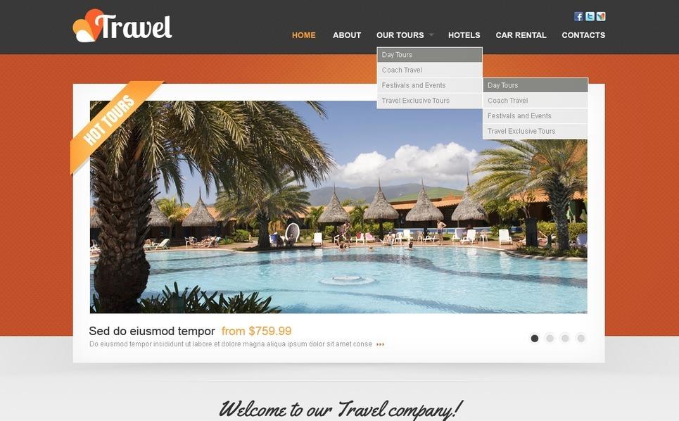 PSD šablona Cestovní kancelář New Screenshots BIG