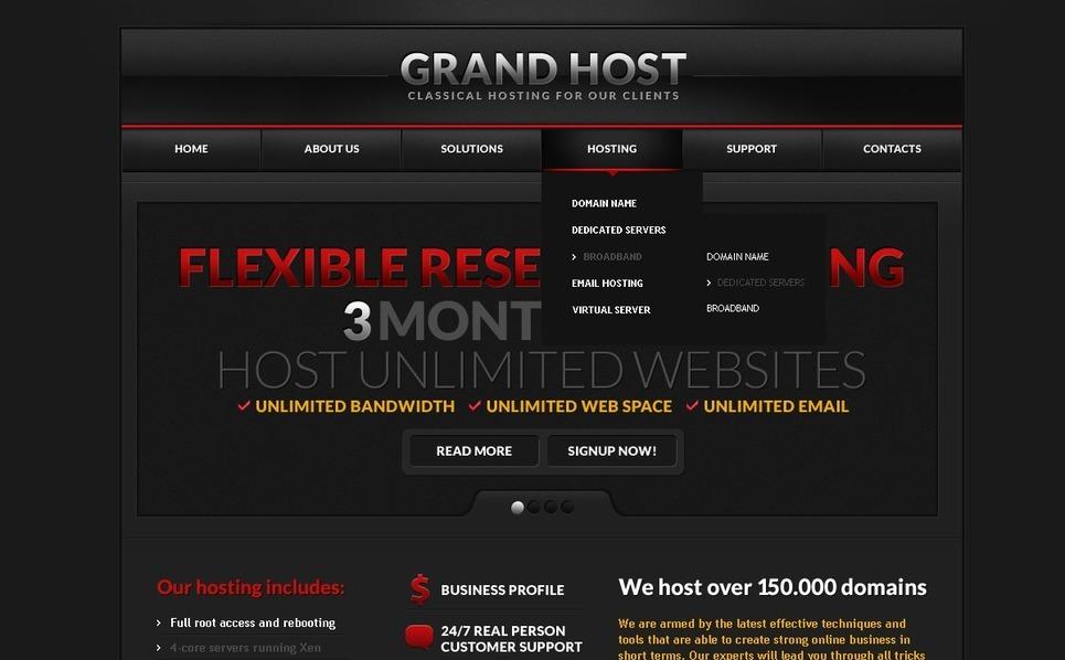 Szablon PSD #57152 na temat: hosting New Screenshots BIG