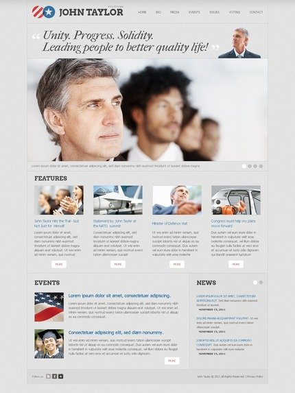 ADOBE Photoshop Template 57153 Home Page Screenshot