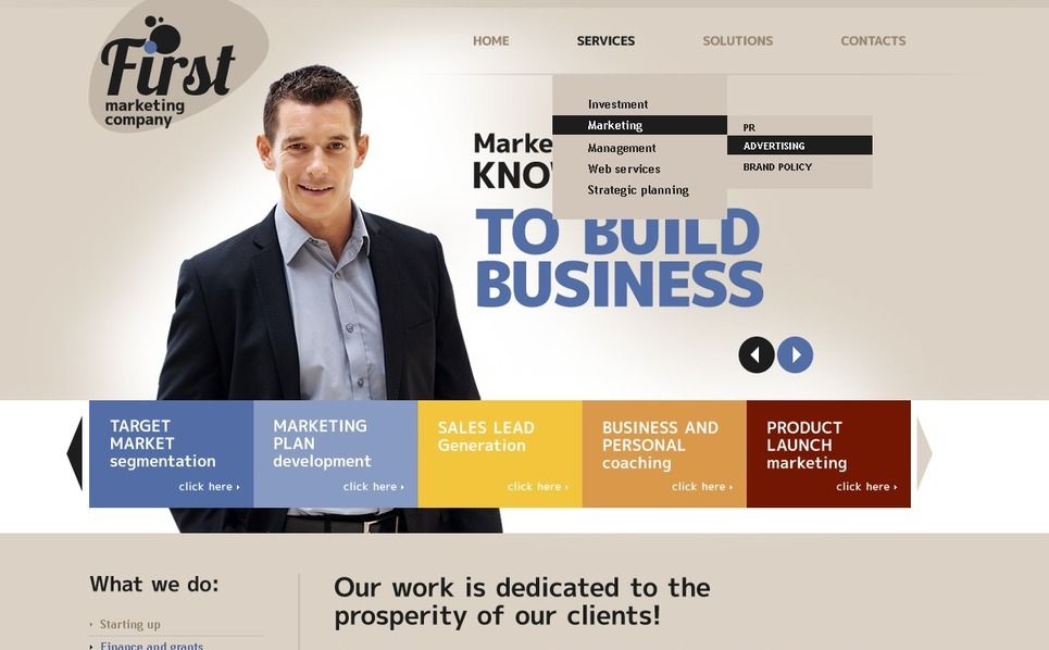 Marketing Agency Templates Psd Şablon New Screenshots BIG