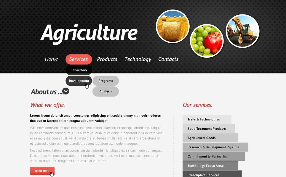 Tema PSD  #57156 per Un Sito di Agricoltura New Screenshots BIG