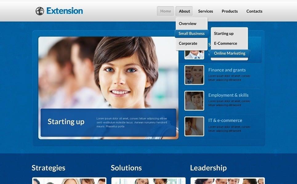 Szablon PSD #57157 na temat: biznes i usługi New Screenshots BIG