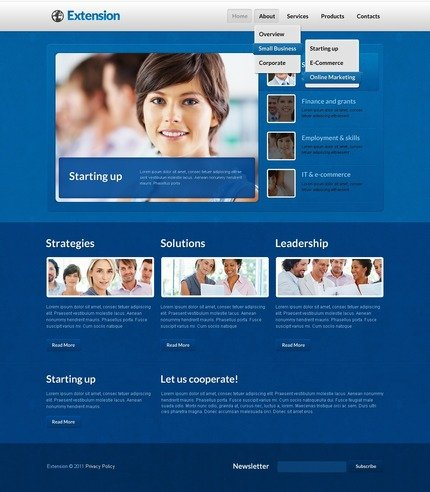 ADOBE Photoshop Template 57157 Home Page Screenshot