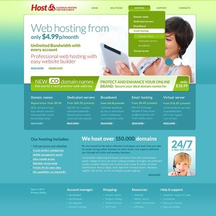 ADOBE Photoshop Template 57158 Home Page Screenshot