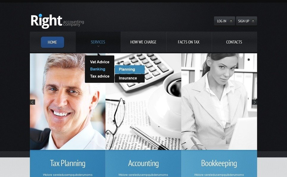 Accounting Website Templates Psd Şablon New Screenshots BIG