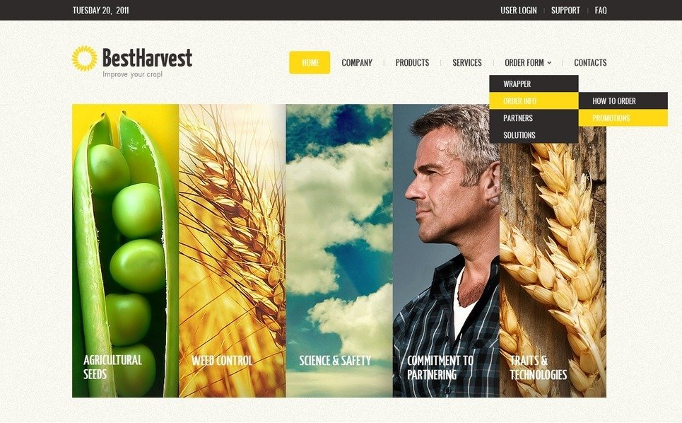 Template Photoshop  para Sites de Agricultura №57164 New Screenshots BIG