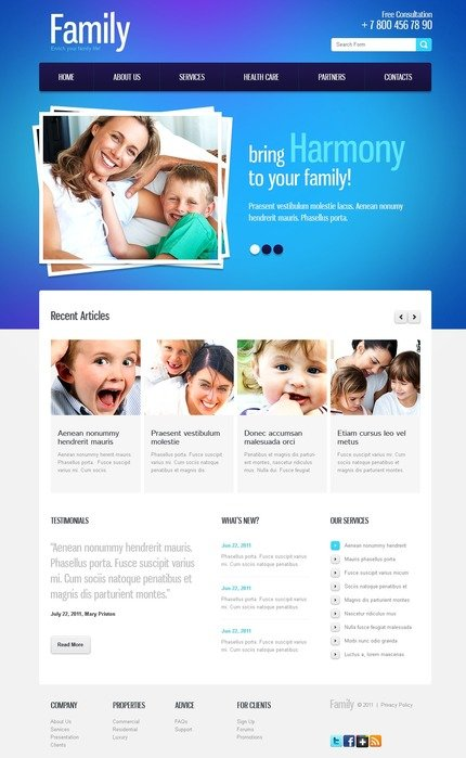 ADOBE Photoshop Template 57166 Home Page Screenshot