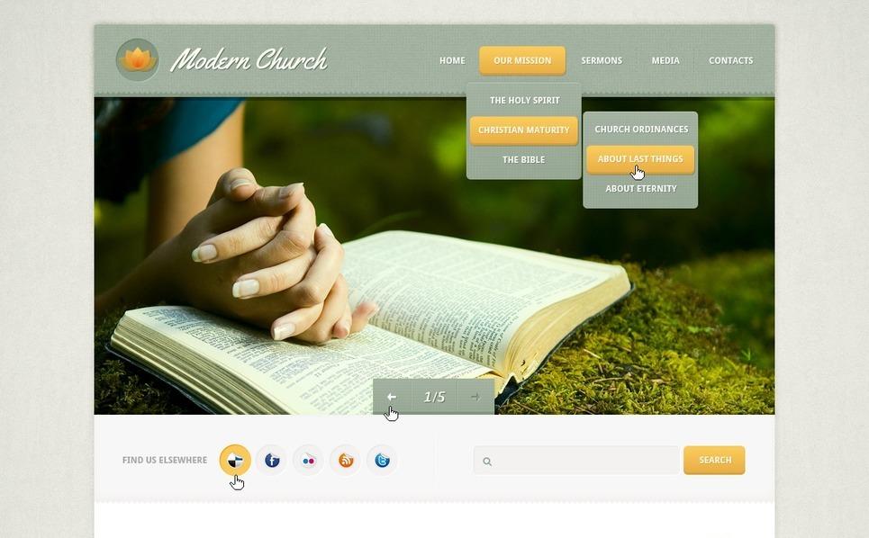 Plantilla PSD #57167 para Sitio de Religión New Screenshots BIG