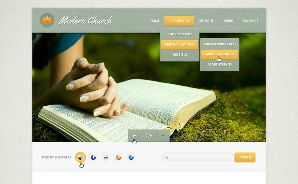 PSD шаблон на тему релігія New Screenshots BIG