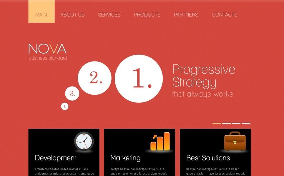 Szablon PSD #57169 na temat: biznes i usługi New Screenshots BIG