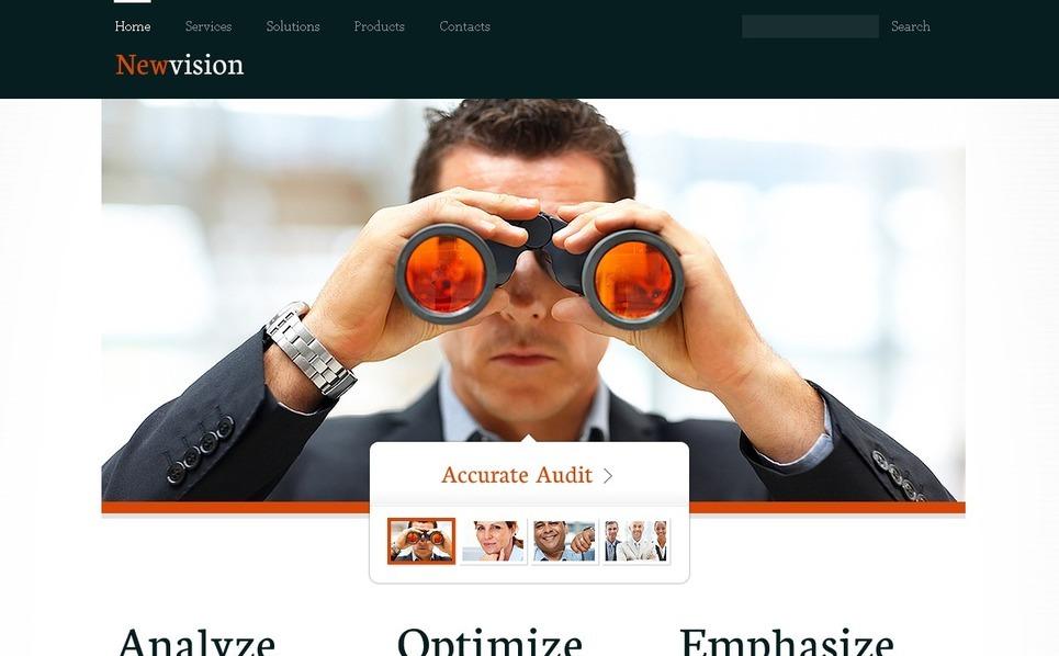 Plantilla PSD #57173 para Sitio de Consultoría New Screenshots BIG
