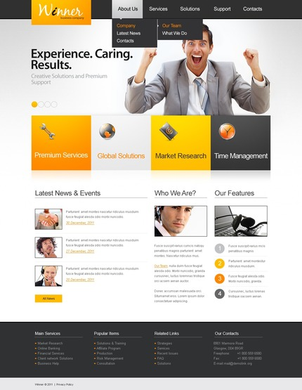 ADOBE Photoshop Template 57174 Home Page Screenshot