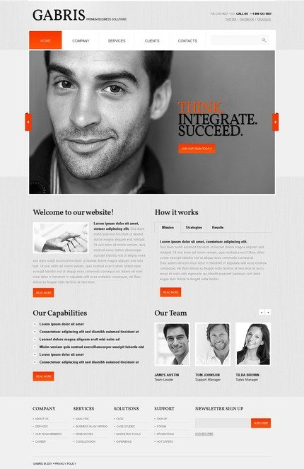 ADOBE Photoshop Template 57175 Home Page Screenshot