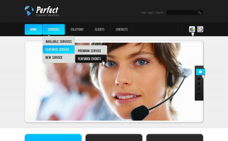 Template Photoshop  para Sites de Consultoria №57177 New Screenshots BIG