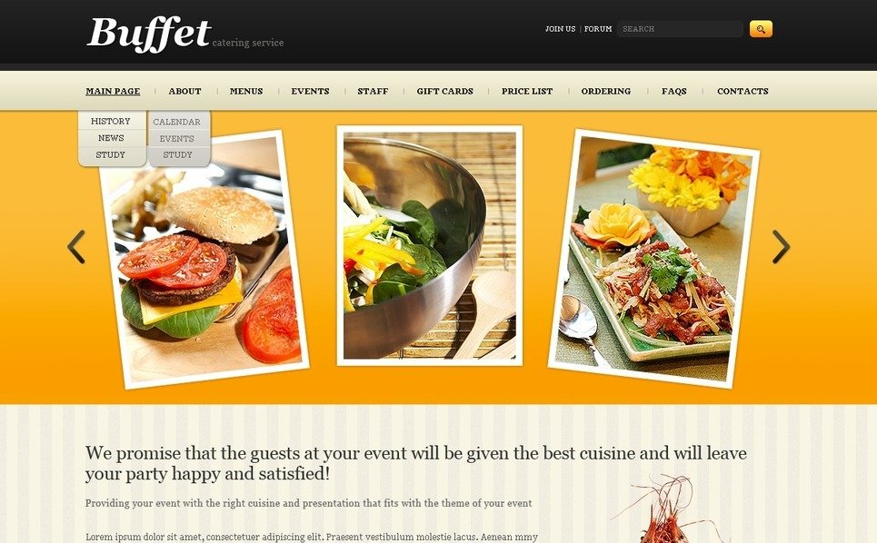 PSD Template over Catering  New Screenshots BIG